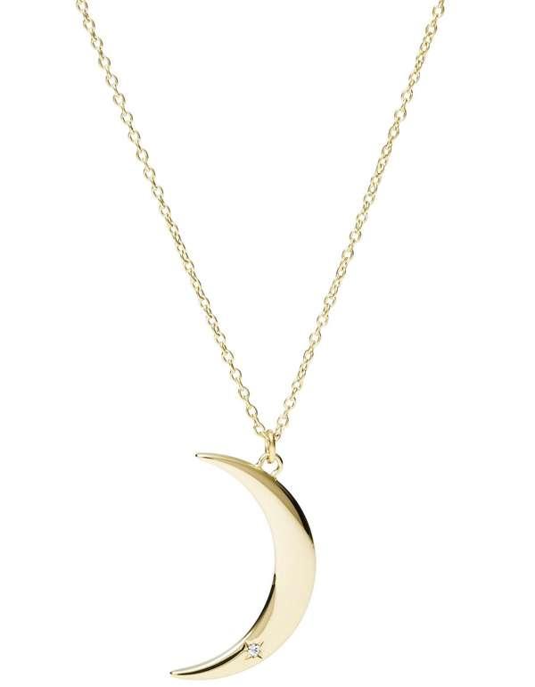 Fossil Damen Halskette Moon (JF03379710) für 34,30€ inkl. Versand (statt 43€)