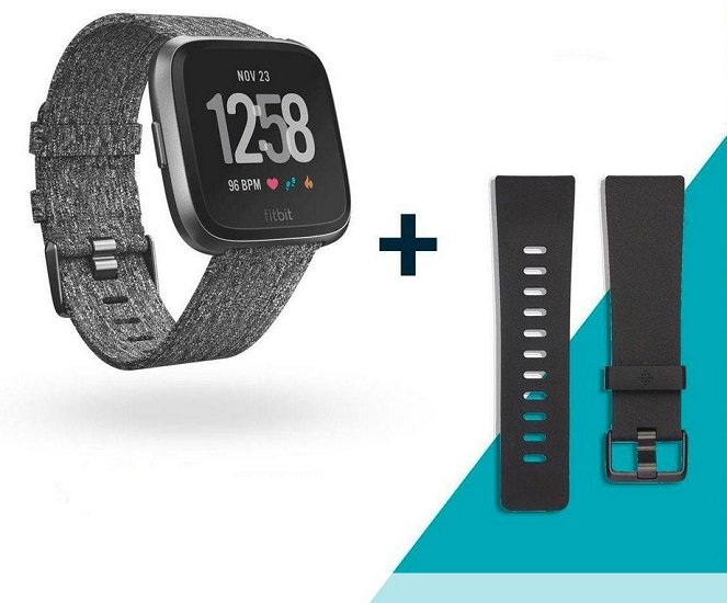 "Fitbit Versa Smartwatch Special Edition ""Charcoal Woven"" für 129,95€ inkl. VSK (statt 160€)"