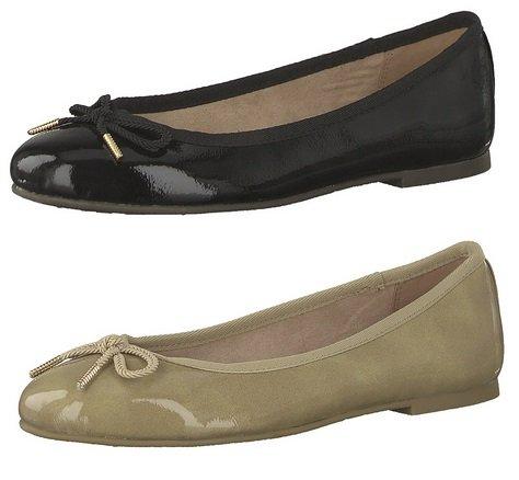 Tamaris Ballerinas in zwei verschiedenen Farben je für 14,99€ inkl. VSK