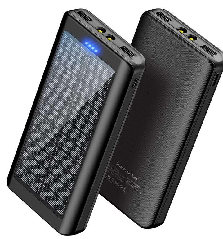 Wbpine Solar Powerbank mit 30000mAh für 19,60€inkl. Prime Versand (statt 37€)