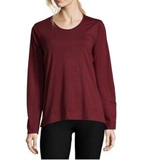 Marc O'Polo Bodywear für Damen & Herren reduziert, z.B. Shirt in Weinrot 14,99€