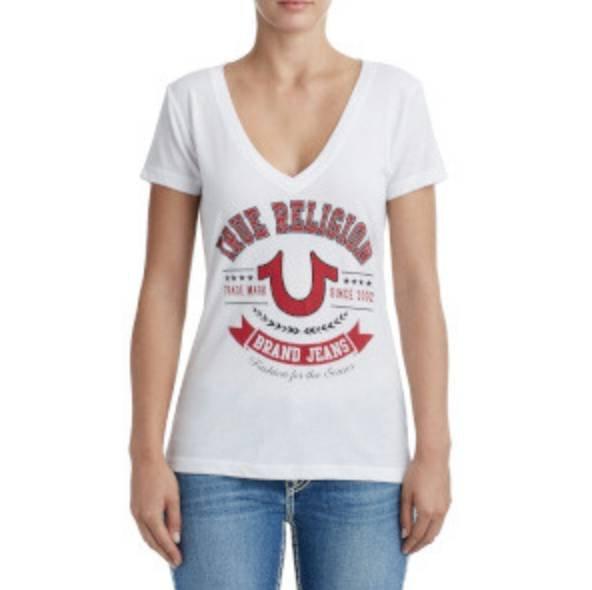 True Religion Sale -65% für die ganze Familie - z.B. Damen T-Shirt für 34,99€