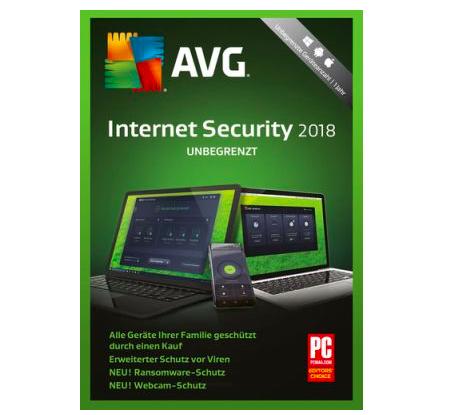 Gratis: AVG Internet Security 2018 Jahreslizenz (PC) kostenlos sichern
