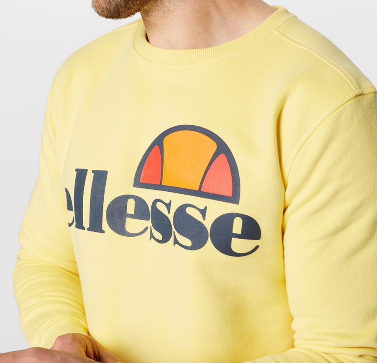 """Ellesse Herren Sweatshirt """"Succiso"""" in gelb / schwarz ab 31,41€ (Vergleich: 43€)"""
