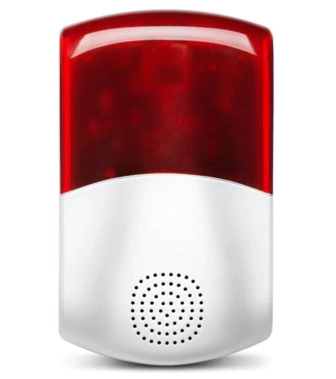 Medion P85714 - Smart Home Außensirene (95dB, Stroboskopisches rotes Licht) für 19,95€