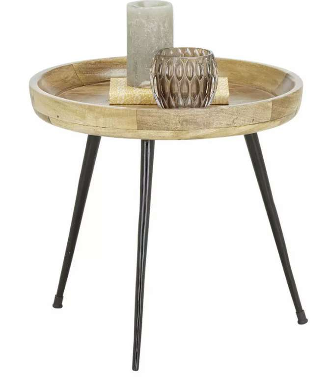 Modern Living Beistelltisch aus Mangoholz für 37,38€inkl. Versand (statt 50€)