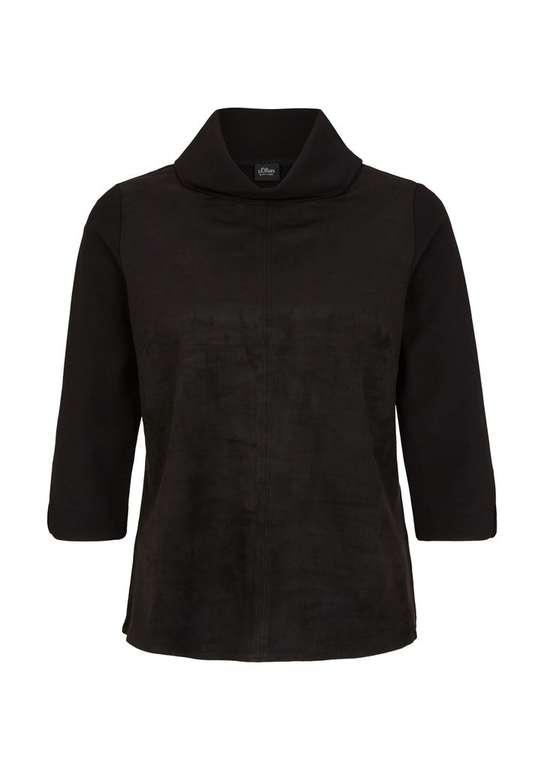 S.Oliver Damen Sweatshirt Interlock-Shirt für 14,90€ (statt 36€)