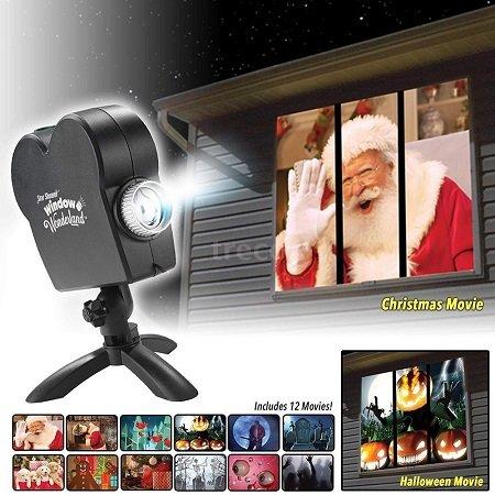 LED Wand- / Fensterprojektor mit 12 kleinen Filmen für 24,99€ inkl. VSK