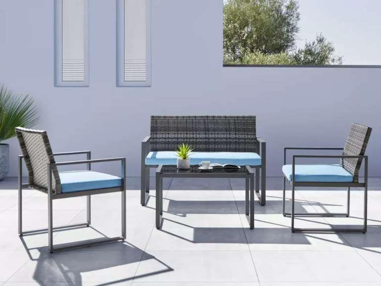 """Bessagi Garden Loungegarnitur """"Moni"""" in Blau/Grau für 209,30€ inkl. Versand (statt 299€)"""