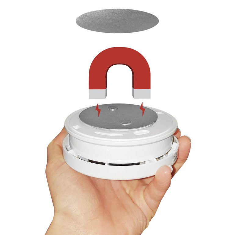 5 wizMart Rauchmelder mit Batterie und Magnethalterung für 13,49€ inkl. Versand