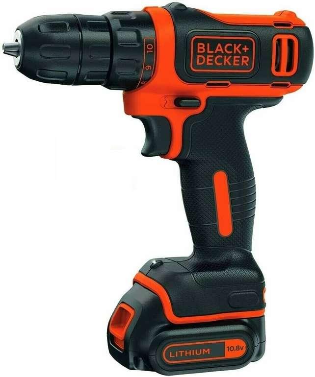 Black + Decker BDCDD12 Akku-Bohrschrauber 10,8V Li-Ion mit Ladegerät für 39,99€ (statt 54€)