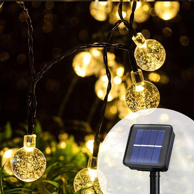 Hengda Solar Lichterkette mit LED Kugeln (6,5 Meter) für 9,09€ (Prime)