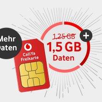 Vodafone CallYa Prepaid mit 1,5GB Datenvolumen nur 9,99€ (für 4 Wochen)