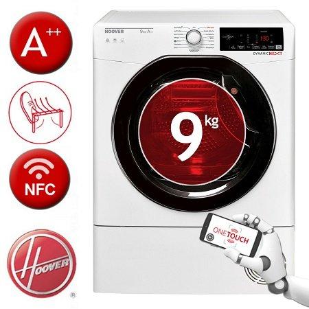 9kg Hoover QDX H9A2TKEX-84 Wärmepumpentrockner mit  A++ & NFC Technologie für 389,90€
