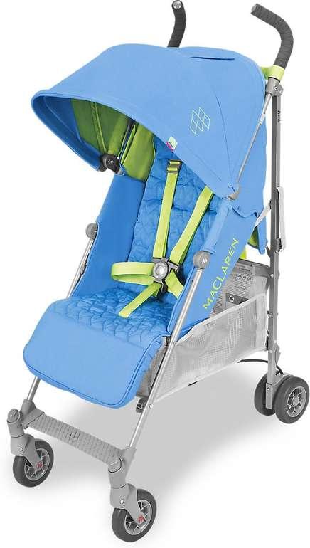 3 Maclaren Baby Quest Kinderwagen Modelle reduziert, z.B. in blau/grün für 177,99€
