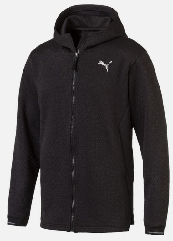 Puma Herren N.R.G. Sweatjacke in schwarz für 25,42€ inkl. Versand (statt 37€)