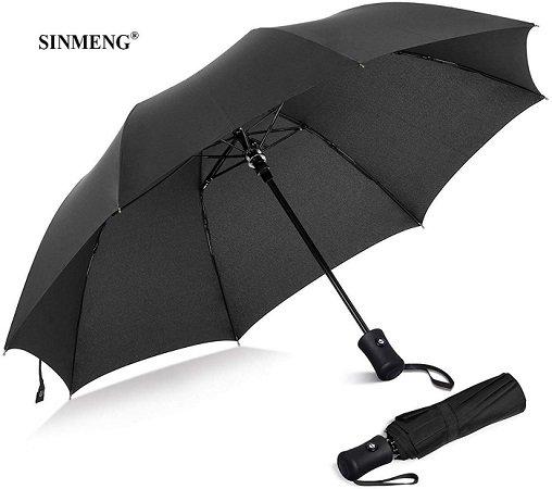 Sinmeng Sturm-Regenschirm mit Einhandbedienung für 10,24€ inkl. Prime Versand
