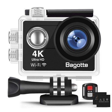 Bagotte - 4K Ultra FHD Action Cam 170° Weitwinkel & Unterwasser für 33€