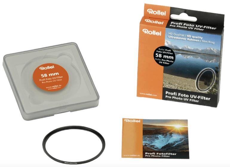 Rollei 26087 Profi UV Filter (58 mm) für 9€ inkl. Versand (statt 15€)