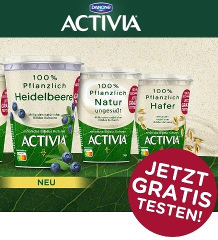 Activia 100% Pflanzlich gratis testen dank Geld-zurück-Garantie