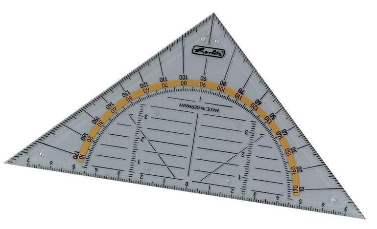 Herlitz Geometrie-Dreieck aus transparentem Kunststoff für 0,53€ inkl. Prime Versand (statt 2€)