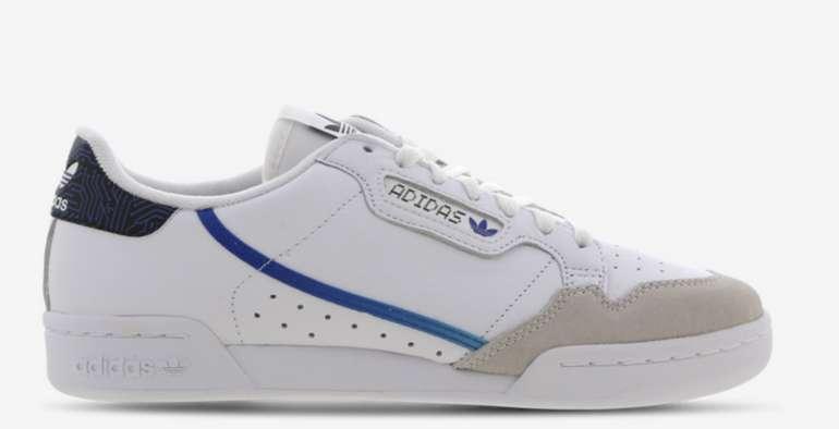 adidas Continental 80 Herren Schuhe in Weiß/Blau für 49,99€inkl. Versand (statt 62€)