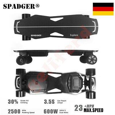 Spadger - elektrisches Skateboard mit 300W Dual Motor & LED-Licht für 340,99€