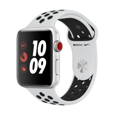 Apple Watch Series 3 Nike+ (GPS + Cellular) 42 mm Platinum für 304,95€ inkl. VSK