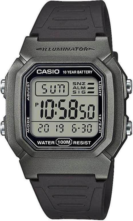 Casio W-800HM-7AVEF Chronograph in schwarz / silber für 17,91€ inkl. VSK (statt 22,90€)