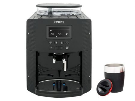Krups EA815B Kaf­fee­voll­au­to­mat + Emsa Isolierbecher für 249€