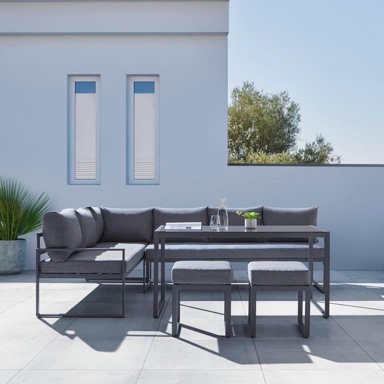 """Modern Living Loungegarnitur """"Mexico"""" in Anthrazit für 419,30€ bei Abholung (statt 599€)"""