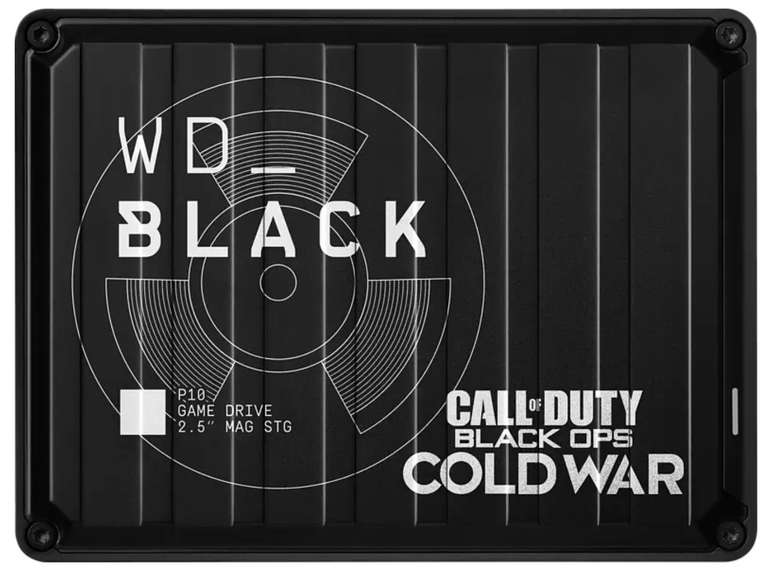 WD Black P10 Game Drive - Externe Call of Duty Special Edition Gaming Festplatte mit 2TB HDD Speicher für 53,48€