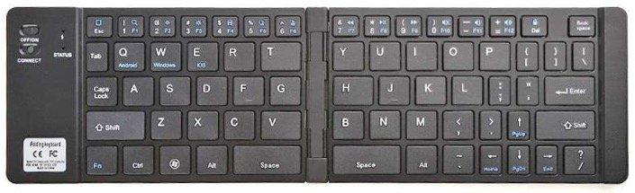 Faltbare Bluetooth-Tastatur mit 69 Tasten für Android, iOS & Windows nur 17,11€