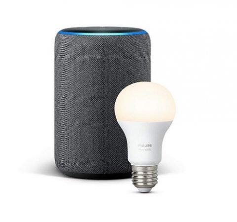 Amazon Echo Plus (2. Generation) + Philips Hue Lampe ab 130,92€ (statt 155€)