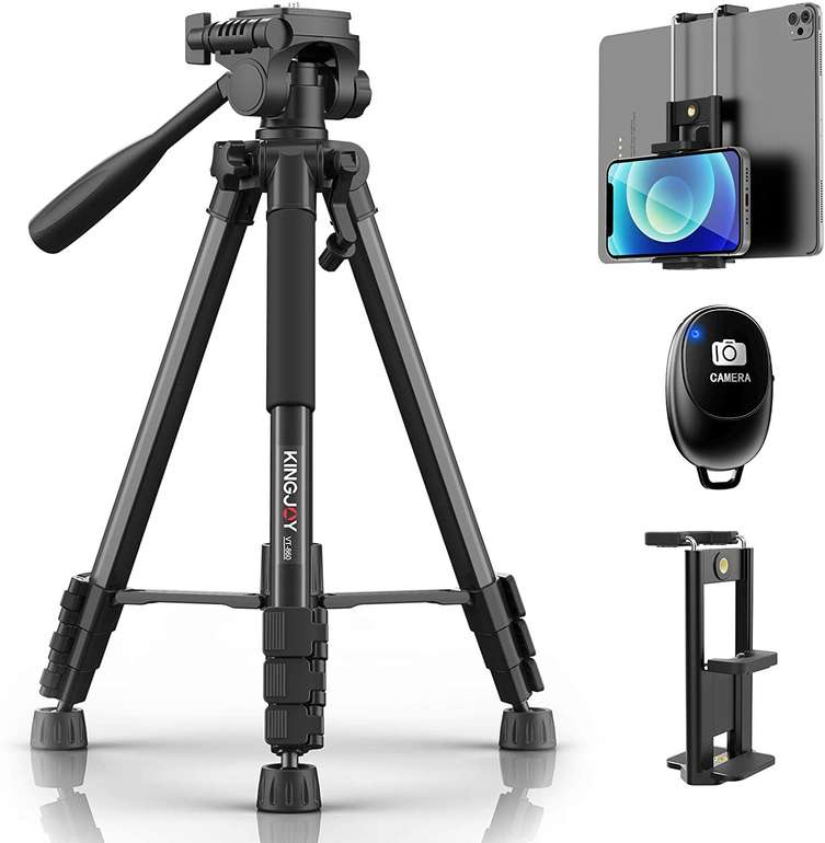 Kingjoy Kamera bzw. Handy Stativ inkl. Fernbedienung für 19,49€ inkl. Versand (statt 39€)