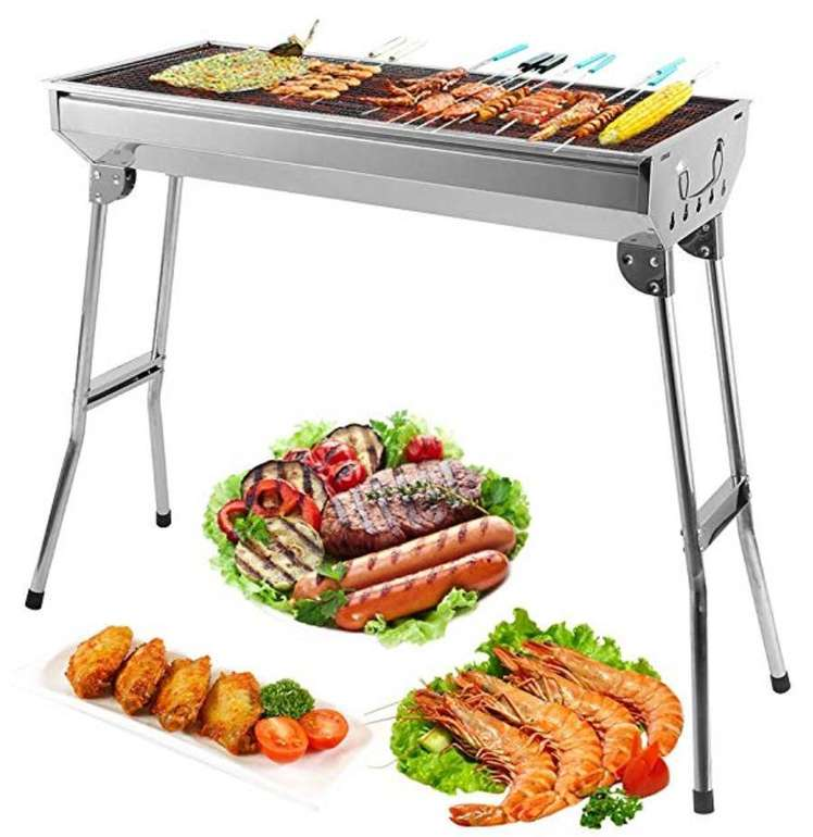 Uten BBQ Klapp-Grill mit großer Grillfläche (74x33cm) für 24,99€ (statt 38€)