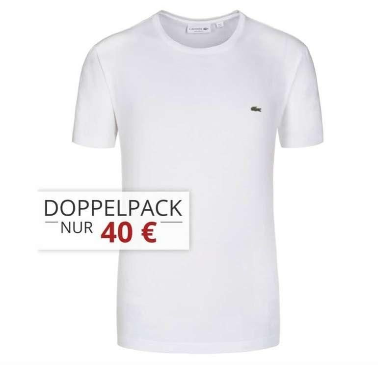 5er Pack Lacoste T-Shirts mit Rundhals oder V-Neck für 90€ (statt 135€)