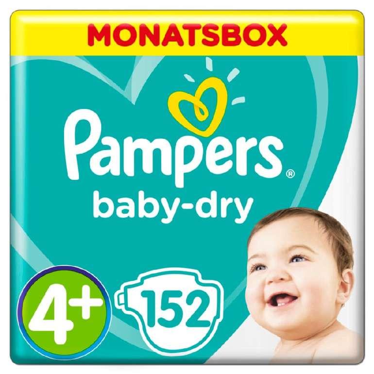 Bis zu 26% Rabatt auf Pampers Baby Dry Monatsboxen + 5% Extra, z.B. 2 Packungen Gr. 4 für 64,96€