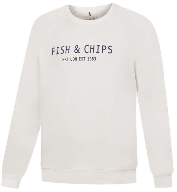 Hackett London HKT Fish & Chips Herren Sweatshirt in Weiß für 31,94€ inkl. Versand (statt 50€)