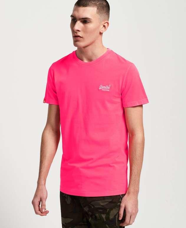 Superdry Sale mit bis zu 50% Rabatt + Versandkostenfrei - z.B. T-Shirt in Neonfarben für 12,50€