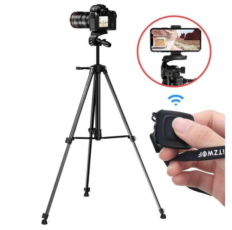 BlitzWolf Kamera Stativ mit Bluetooth Fernbedienung, Telefonclip und Tragetasche für 28,79€