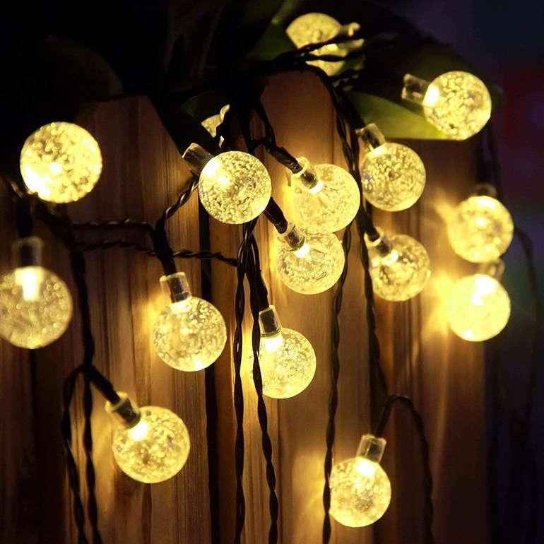 Brisun LED Lichterkette (Solar oder Batterie) für 9,59€ inkl. Prime Versand (statt 16€)