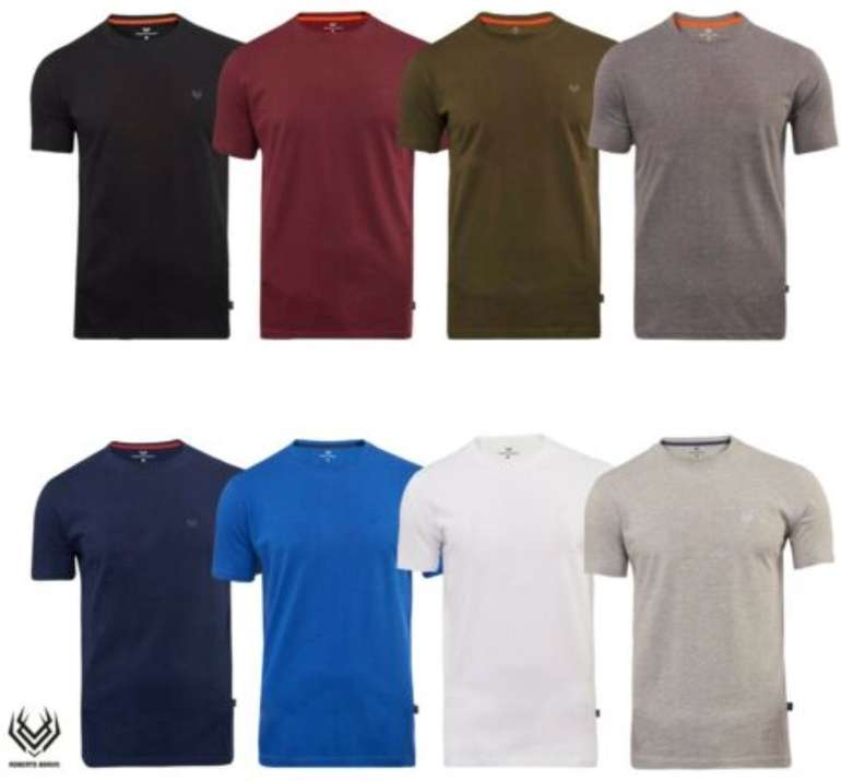 Roberto Barini Herren Rundhals Basic T-Shirts für je 10,99€ inkl. Versand (statt 13€)