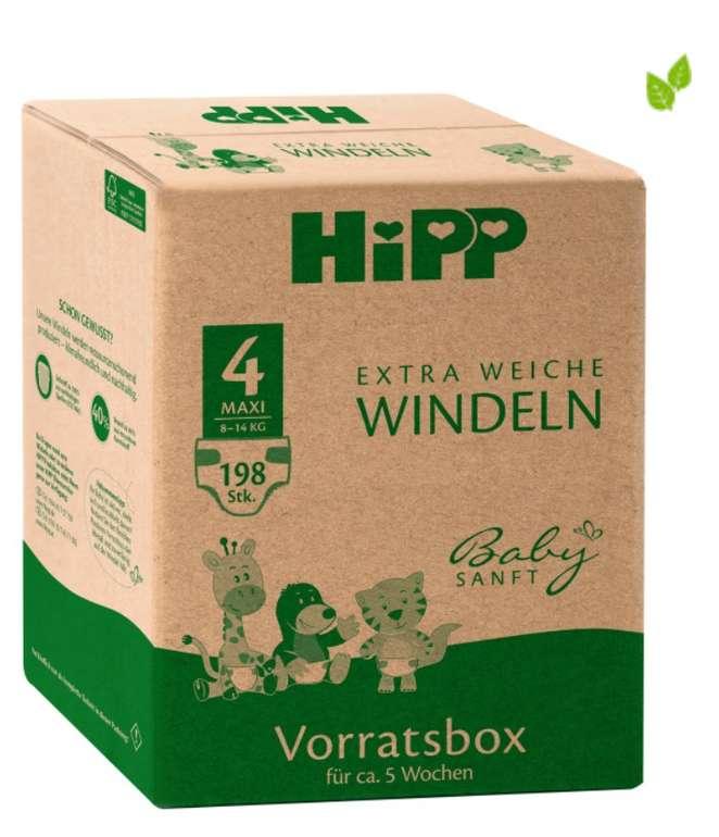 Windeln.de: Hipp Babysanft Windeln Vorratsbox (vers. Größen) - z.B Gr. 4 mit 198 Stück für 31,42€