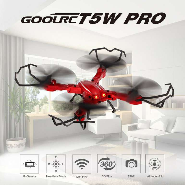 GoolRC T5W PRO 2.4G 4CH WiFi FPV RC Quadcopter Drohne für 29,75€ inkl. VSK