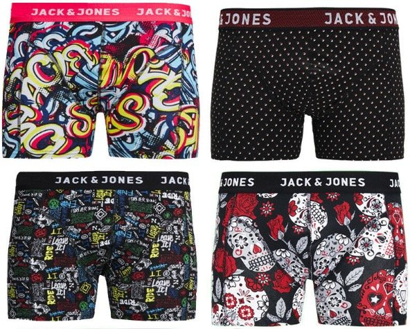 4er-Pack Jack & Jones Boxershorts für 22,36€ inkl. Versand