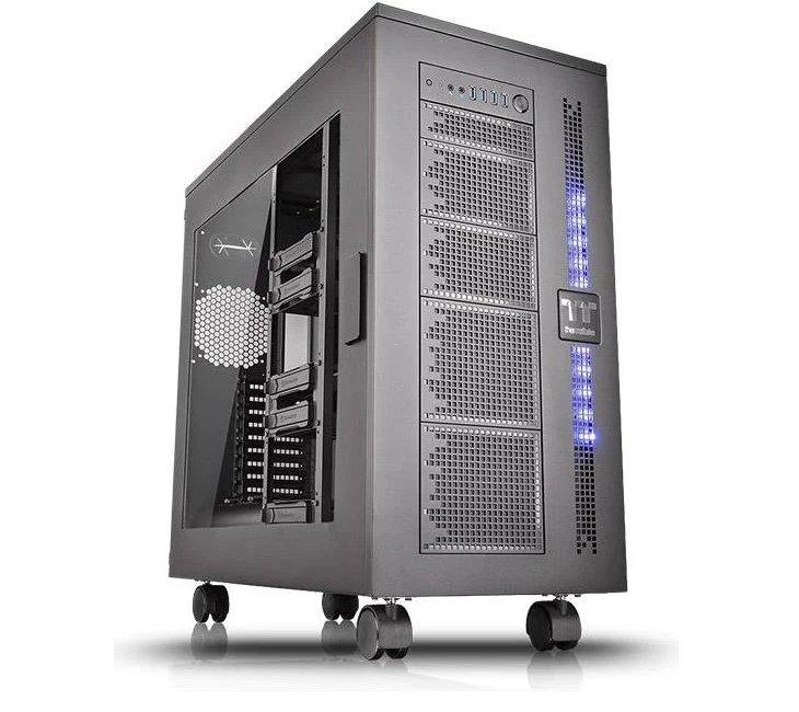 """Thermaltake Core W100 PC-Gehäuse (142l, bis XL-ATX, für 19x 140mm-Lüfter, 3x 5.25"""", 10x 3.5"""" intern, 4x USB-A 3.0, Acrylfenster) für 282,26€"""
