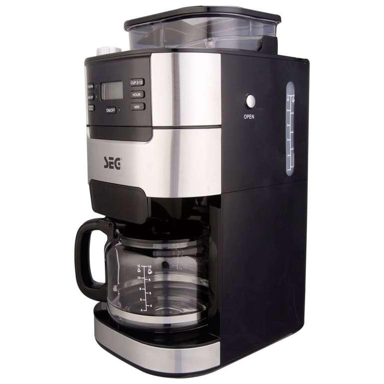 SEG Edelstahl Kaffeemaschine KM1025 mit integriertem Mahlwerk für 47,94€ inkl. Versand (statt 90€)