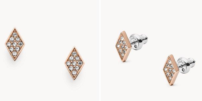 Fossil Damen Ohrstecker Diamond 2