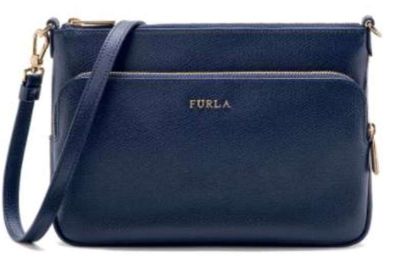 Furla Crossbody Bag XL in dunkelblau aus Kalbsleder (B21,5 x H14,5 x T4 cm) für 86,86€ (statt 174€)